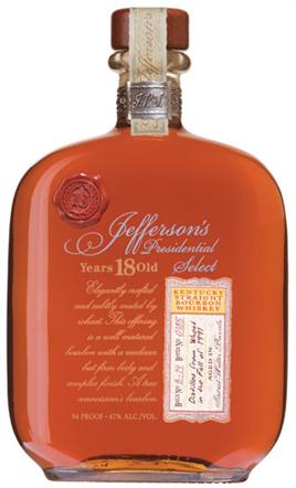 Jeffersons Bourbon Presidential Select 18 Years Single Barrel